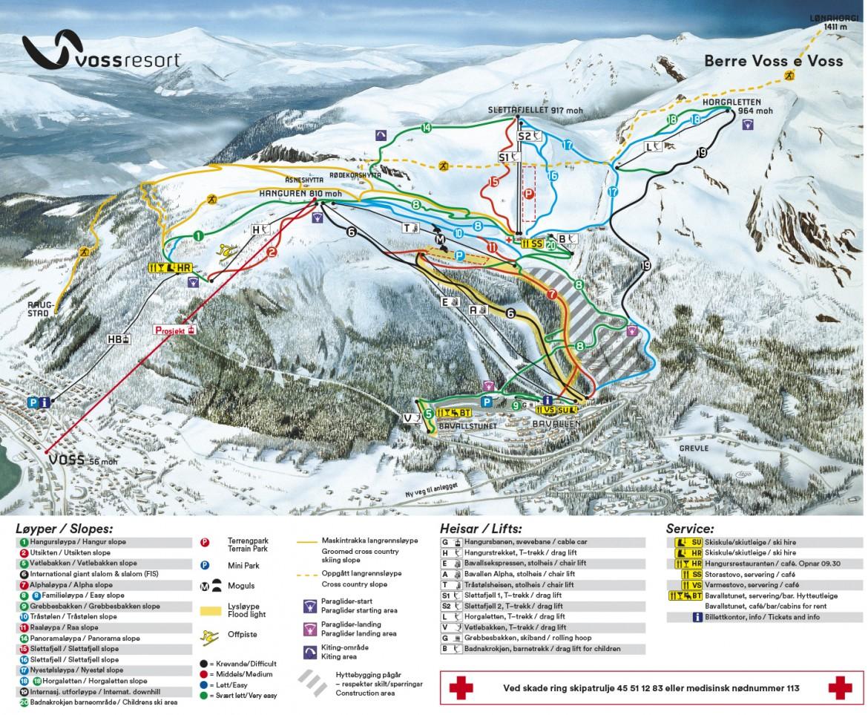 Ski In Voss Resort Skiing In The Norwegian Fjords Ski Voss - Norway map voss
