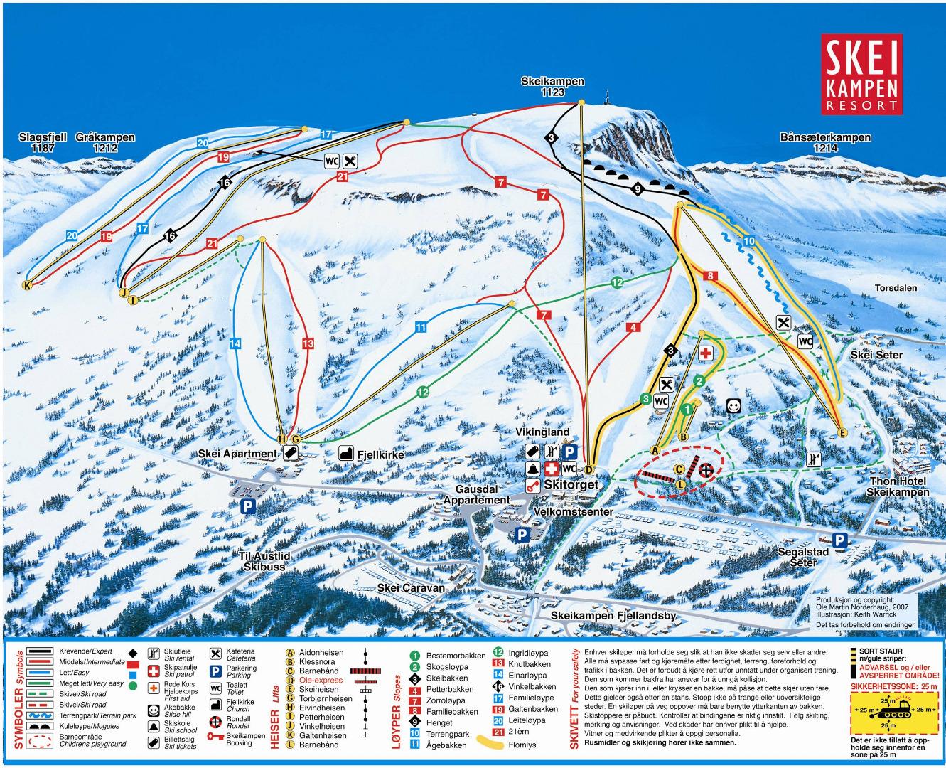 Ski In Skeikampen Quiet Ski Slopes SkiNorway - Norway map voss