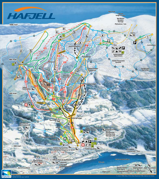 Ski In Lillehammer Hafjell Olympic Resort Ski Norway - Norway map voss
