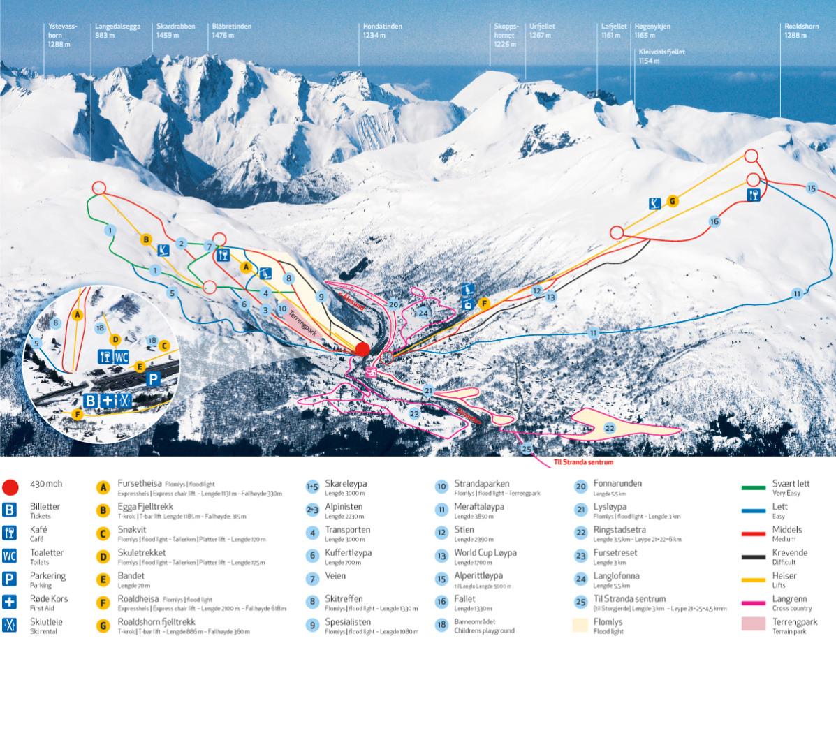 Ski The Fjord Region Skitouring And Offpiste SkiNorway - Norway map alesund